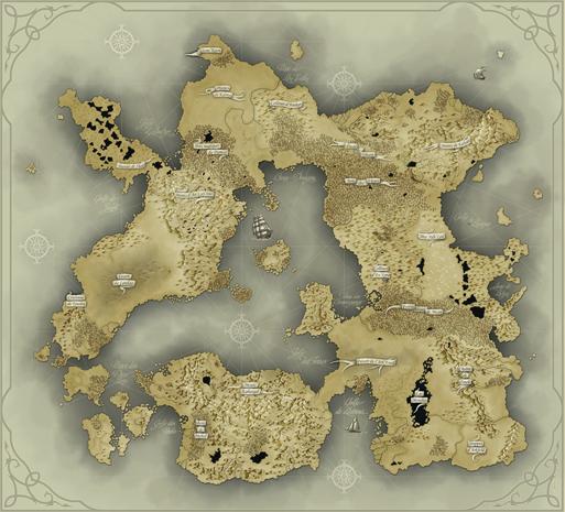 Carte du relief d'Oneira. Cliquez pour agrandir.