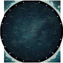 Carte du ciel d'�t�, ou ciel ancien ; cliquez pour agrandir.