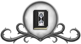 Embl�me du culte du Pass� : le sablier blanc sur un livre noir, par Erana.