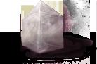 Pointe terminale d'une flèche de cristal de chebatan teinté.